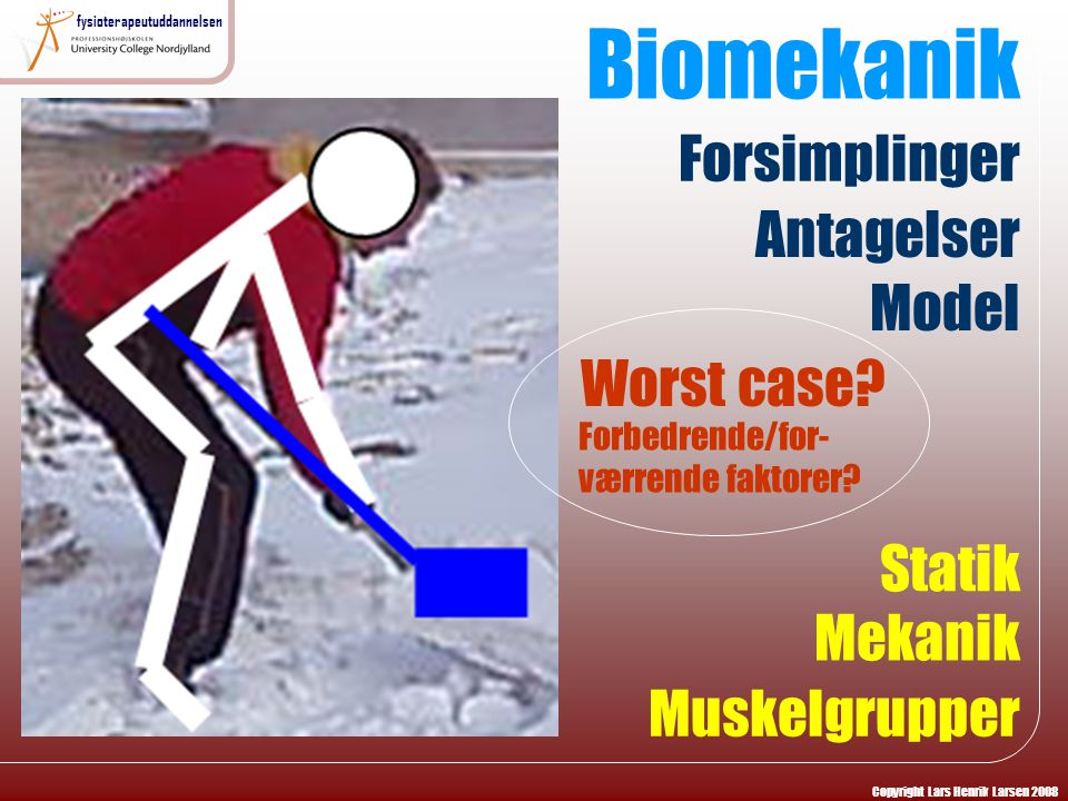 Biomekanik Forsimplinger Antagelser Model Worst case Statik Mekanik