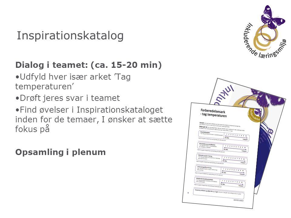 Inspirationskatalog Dialog i teamet: (ca. 15-20 min)