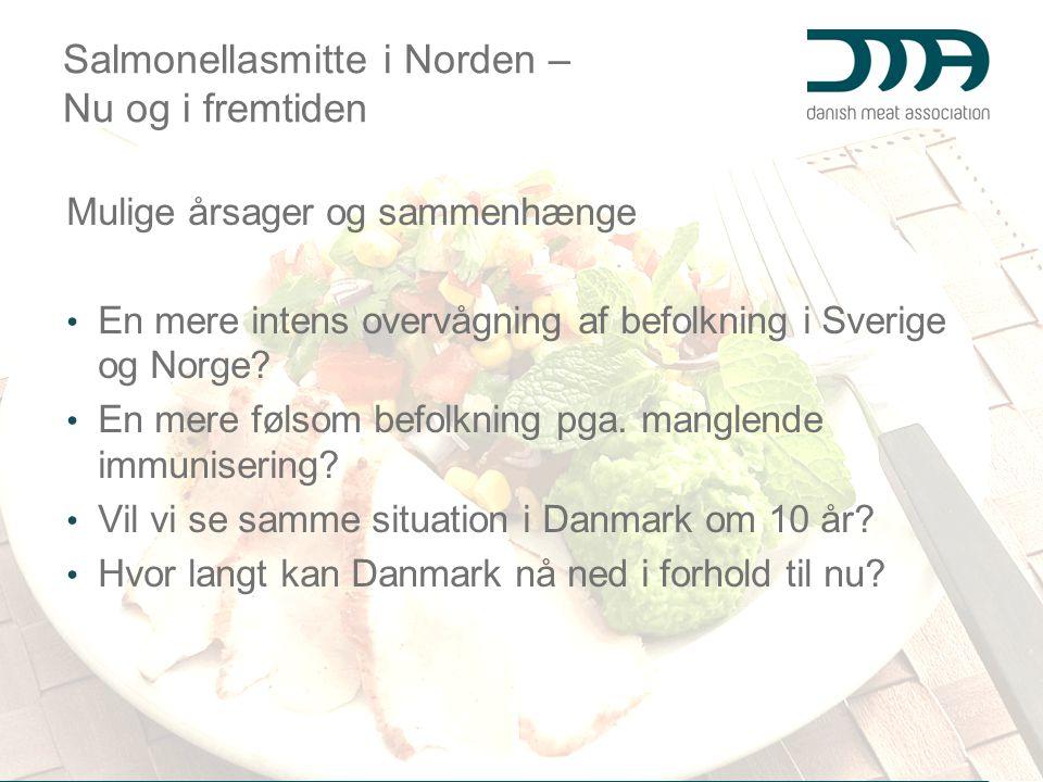 Salmonellasmitte i Norden – Nu og i fremtiden