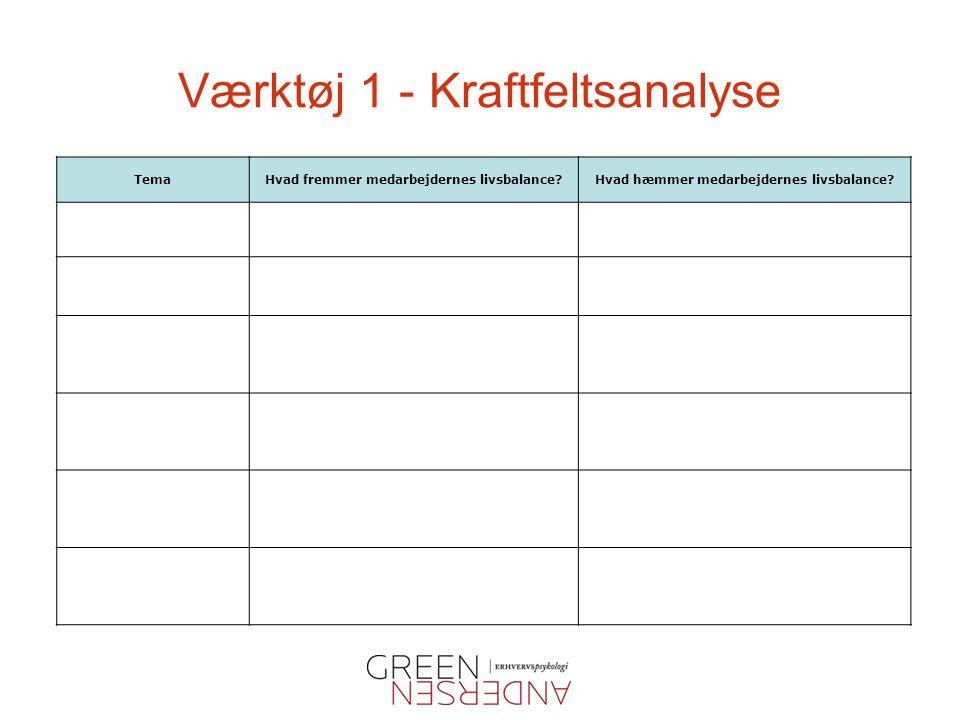 Værktøj 1 - Kraftfeltsanalyse