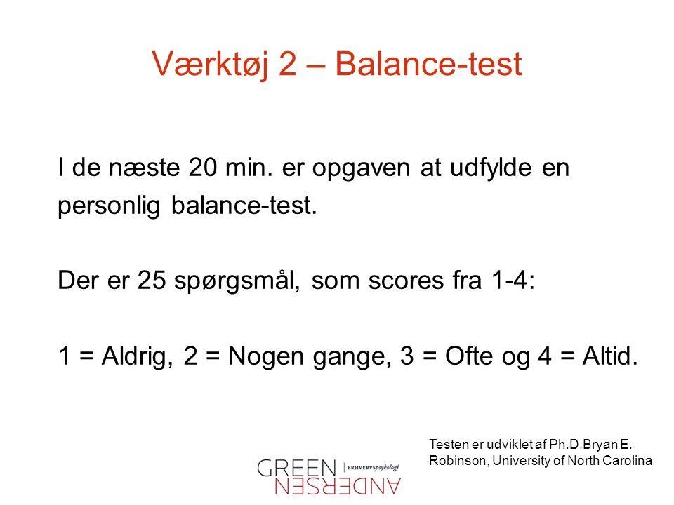 Værktøj 2 – Balance-test