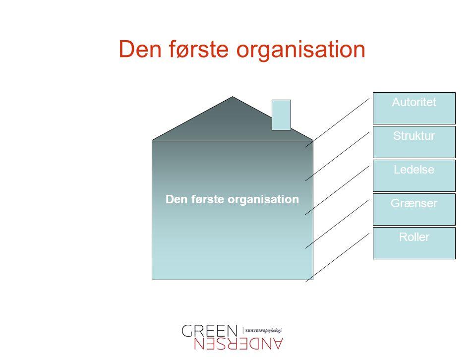 Den første organisation