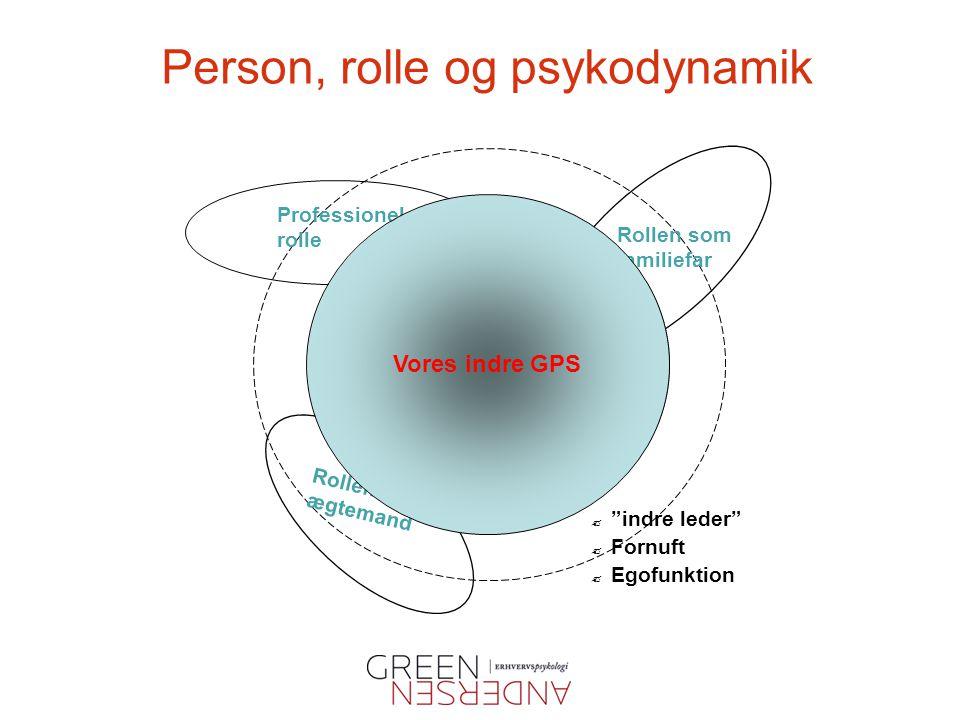 Person, rolle og psykodynamik