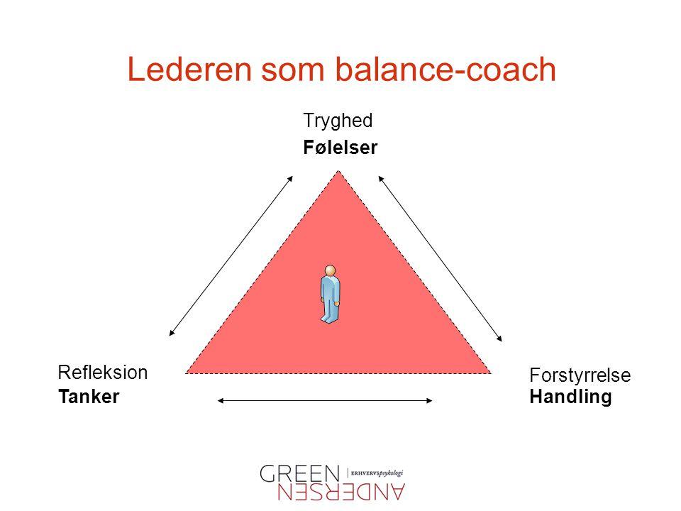 Lederen som balance-coach