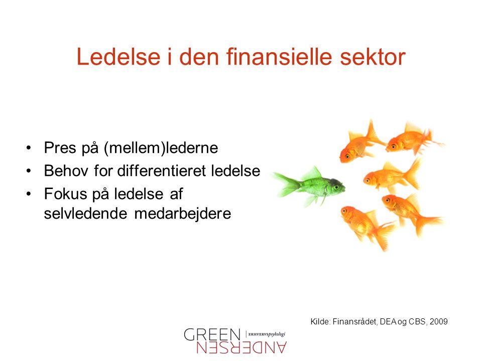 Ledelse i den finansielle sektor