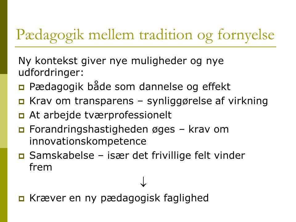 Pædagogik mellem tradition og fornyelse