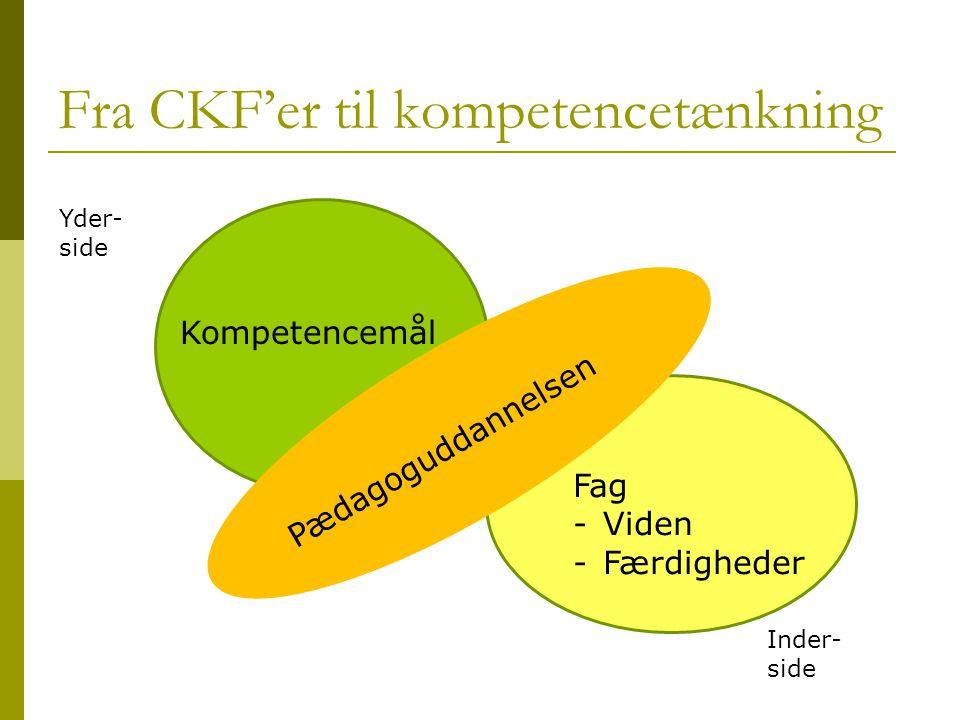 Fra CKF'er til kompetencetænkning