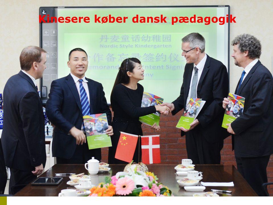 Kinesere køber dansk pædagogik