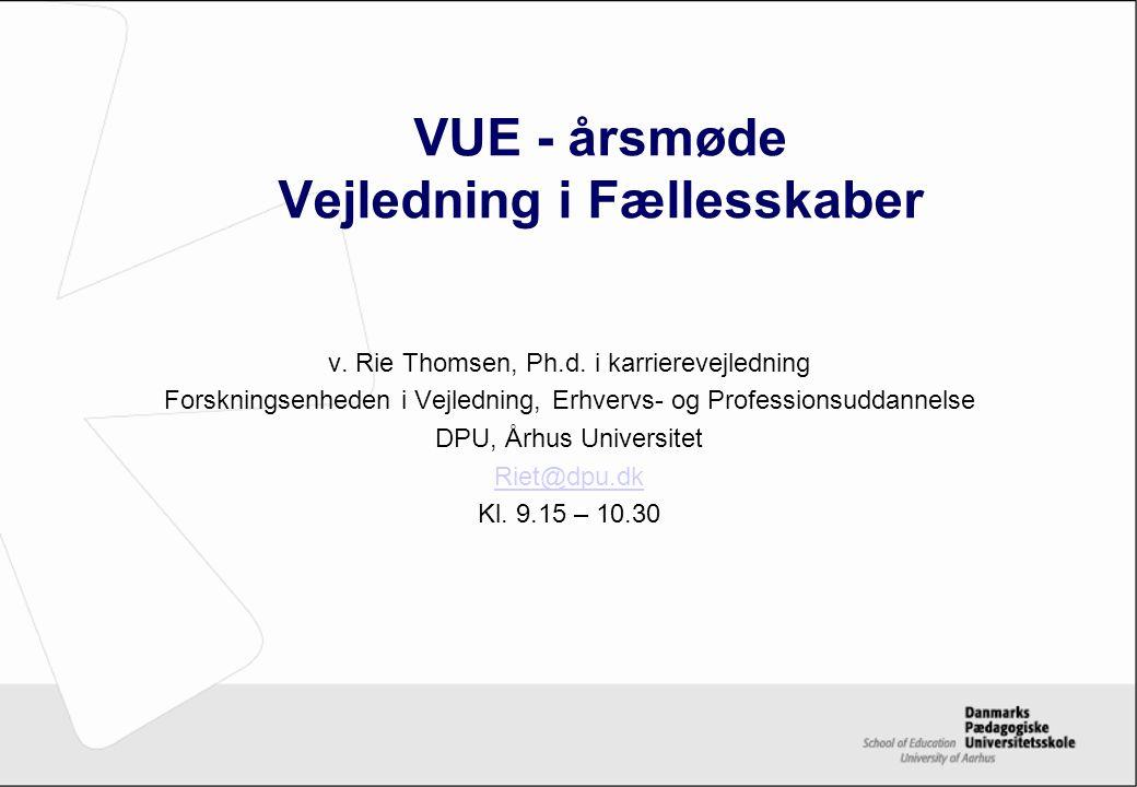 VUE - årsmøde Vejledning i Fællesskaber