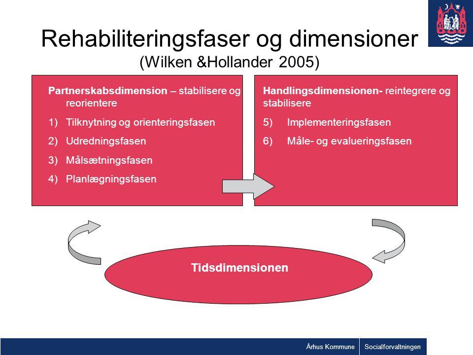 Rehabiliteringsfaser og dimensioner (Wilken &Hollander 2005)