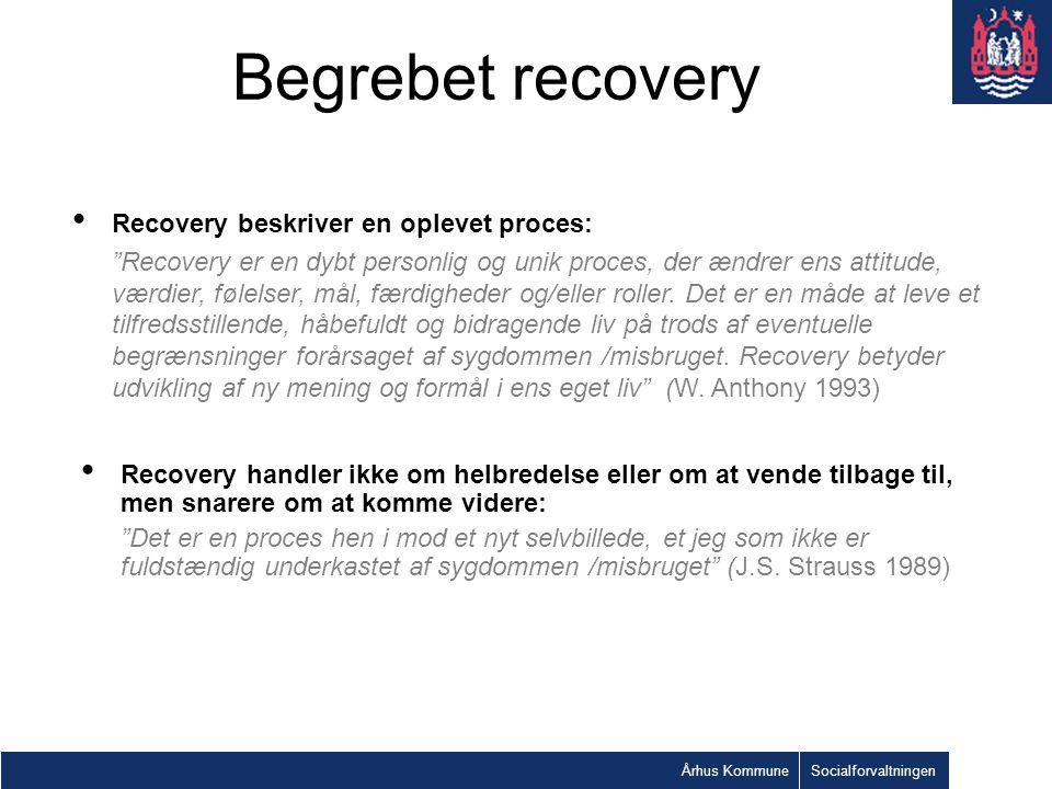 Begrebet recovery Recovery beskriver en oplevet proces: