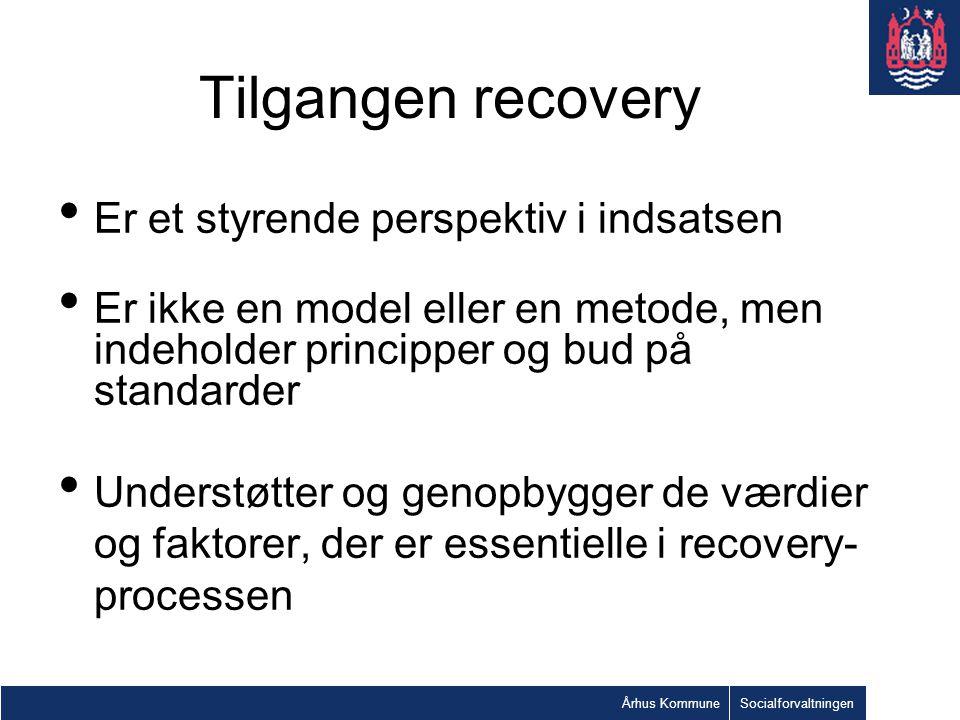 Tilgangen recovery Er et styrende perspektiv i indsatsen