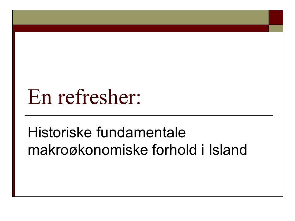 Historiske fundamentale makroøkonomiske forhold i Island
