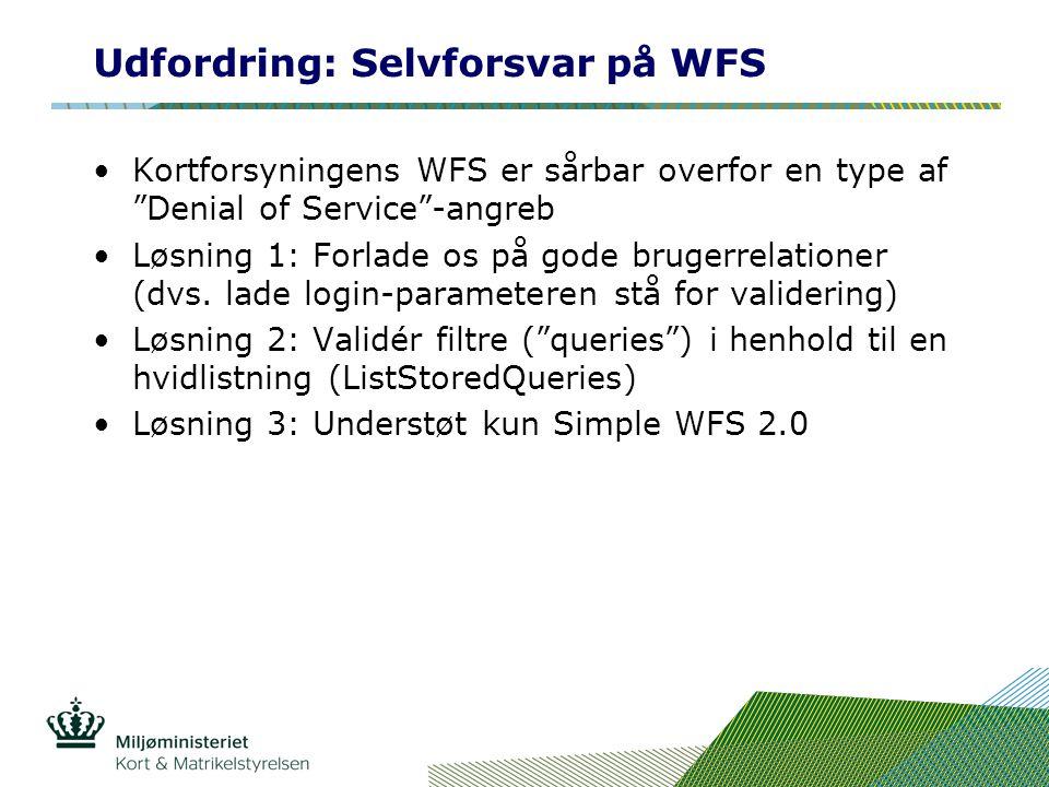 Udfordring: Selvforsvar på WFS