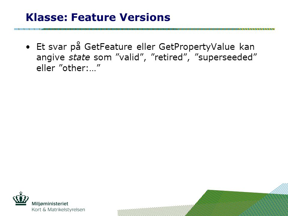 Klasse: Feature Versions