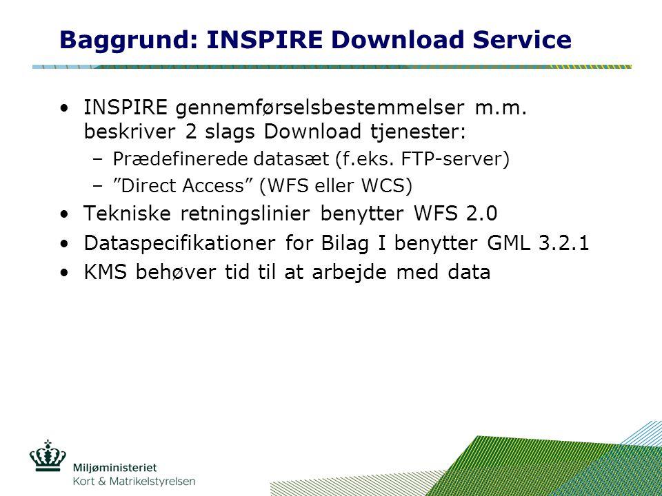 Baggrund: INSPIRE Download Service