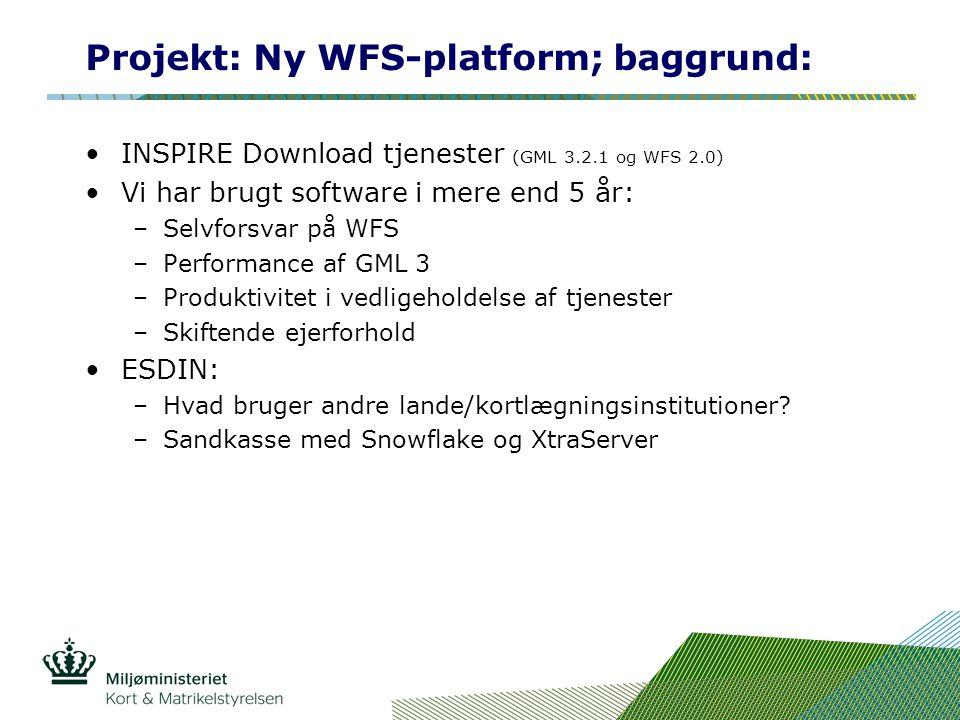 Projekt: Ny WFS-platform; baggrund: