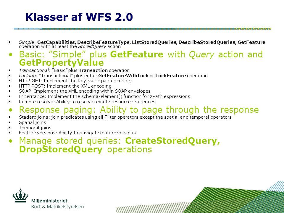 Klasser af WFS 2.0