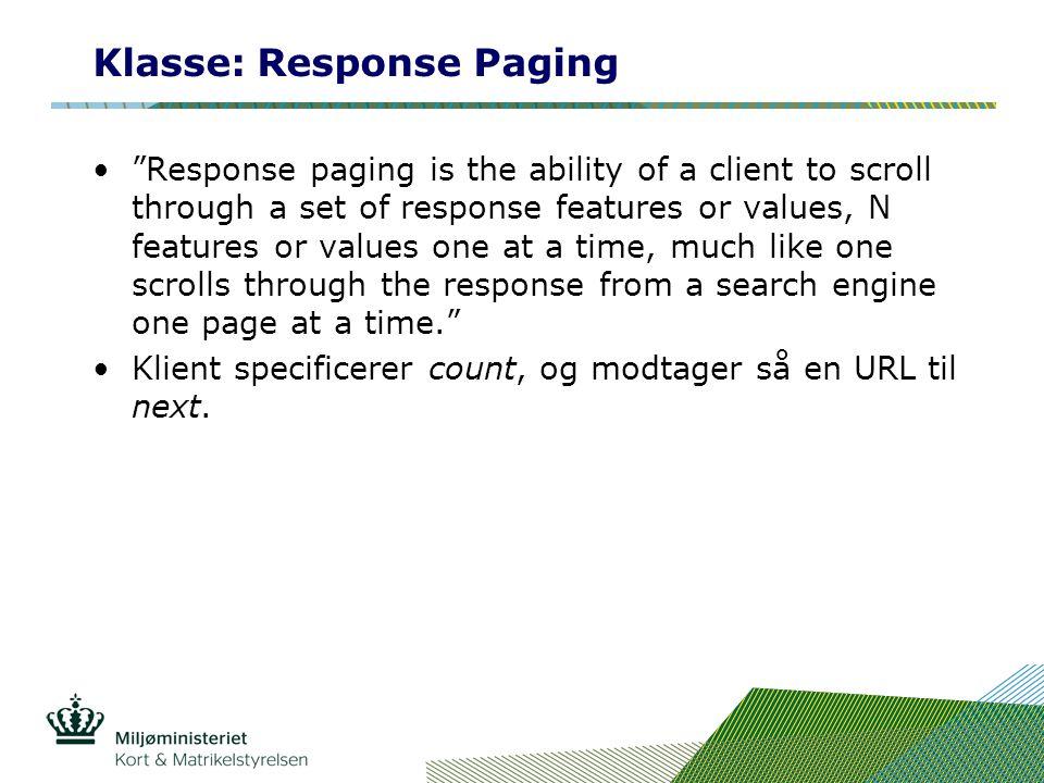Klasse: Response Paging