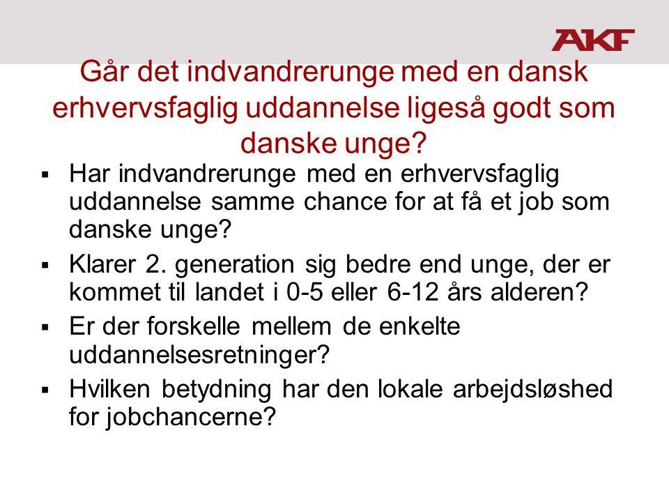 Går det indvandrerunge med en dansk erhvervsfaglig uddannelse ligeså godt som danske unge