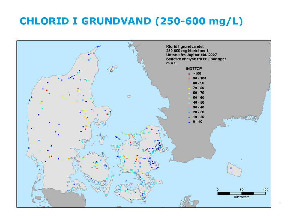 CHLORID I GRUNDVAND (250-600 mg/L)