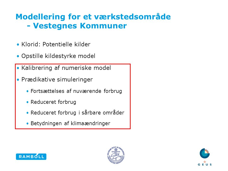 Modellering for et værkstedsområde - Vestegnes Kommuner