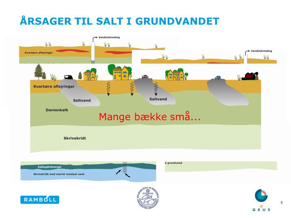 ÅRSAGER TIL SALT I GRUNDVANDET