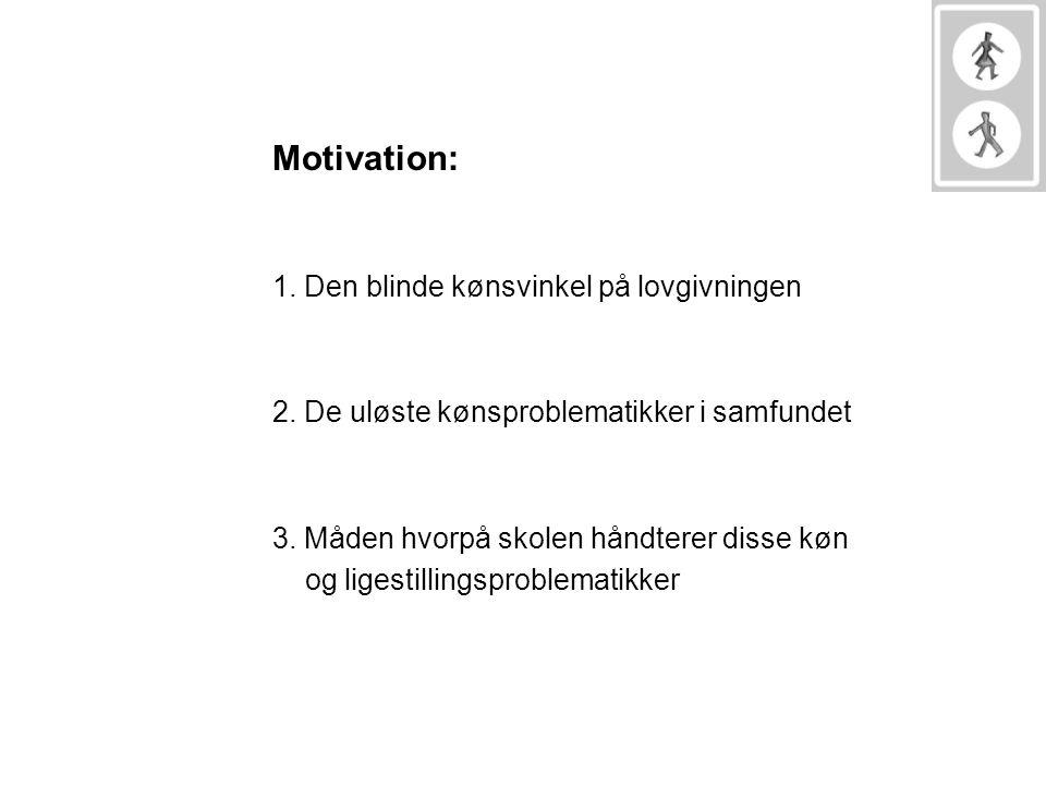 Motivation: 1. Den blinde kønsvinkel på lovgivningen