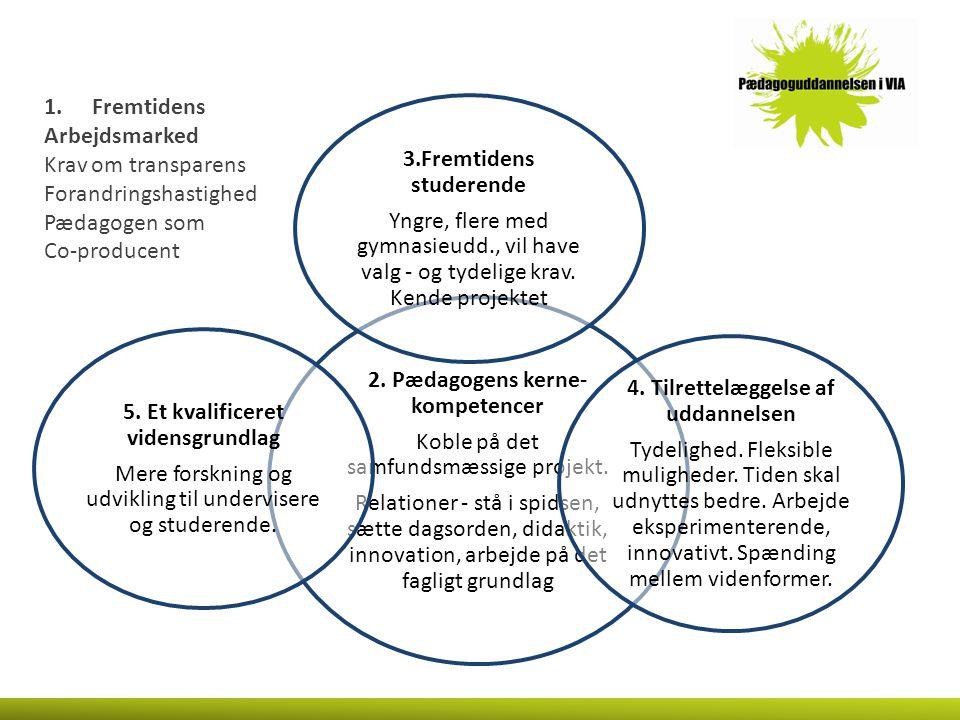 2. Pædagogens kerne-kompetencer Koble på det samfundsmæssige projekt.