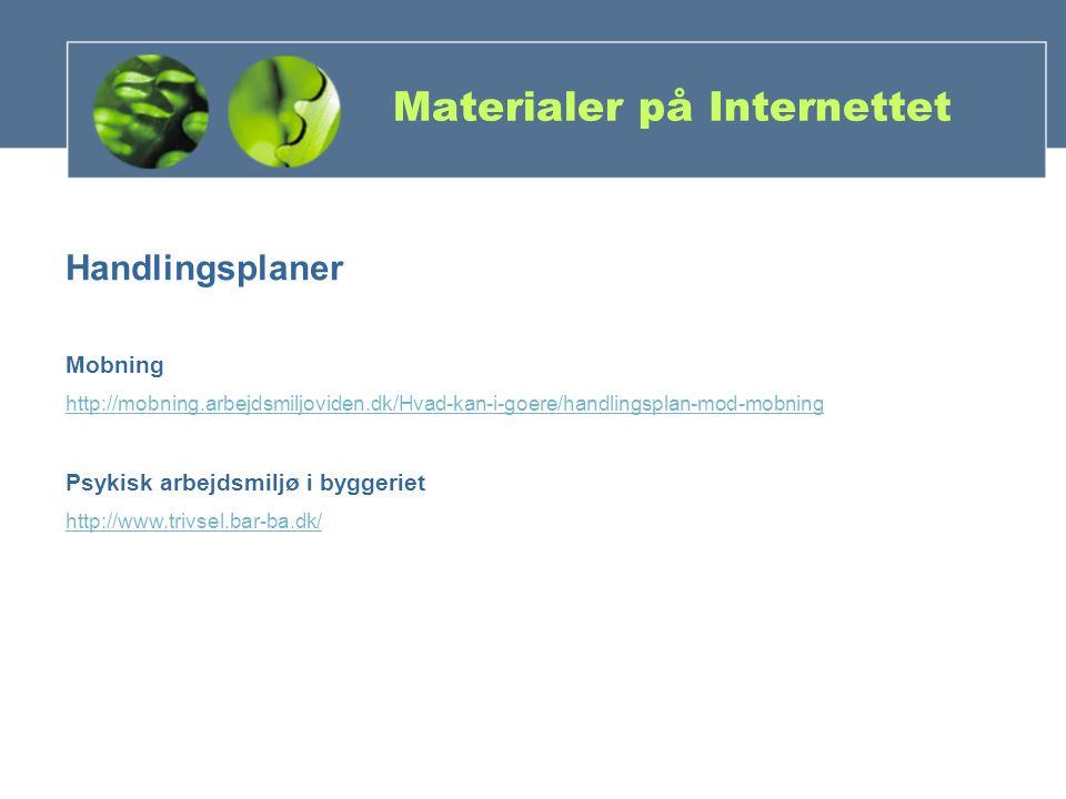 Materialer på Internettet