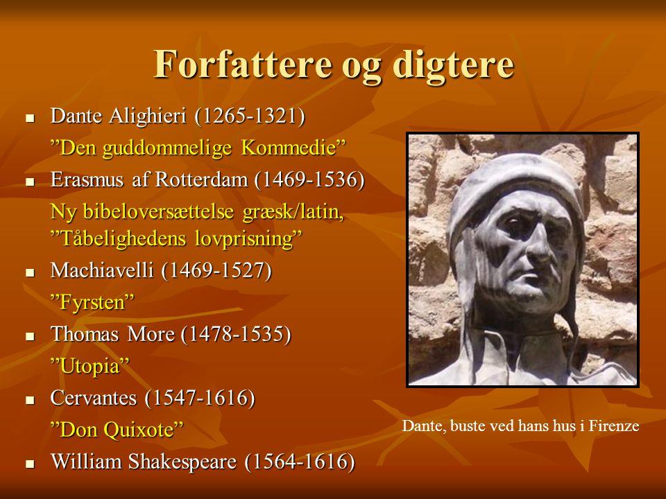 Forfattere og digtere Dante Alighieri (1265-1321)