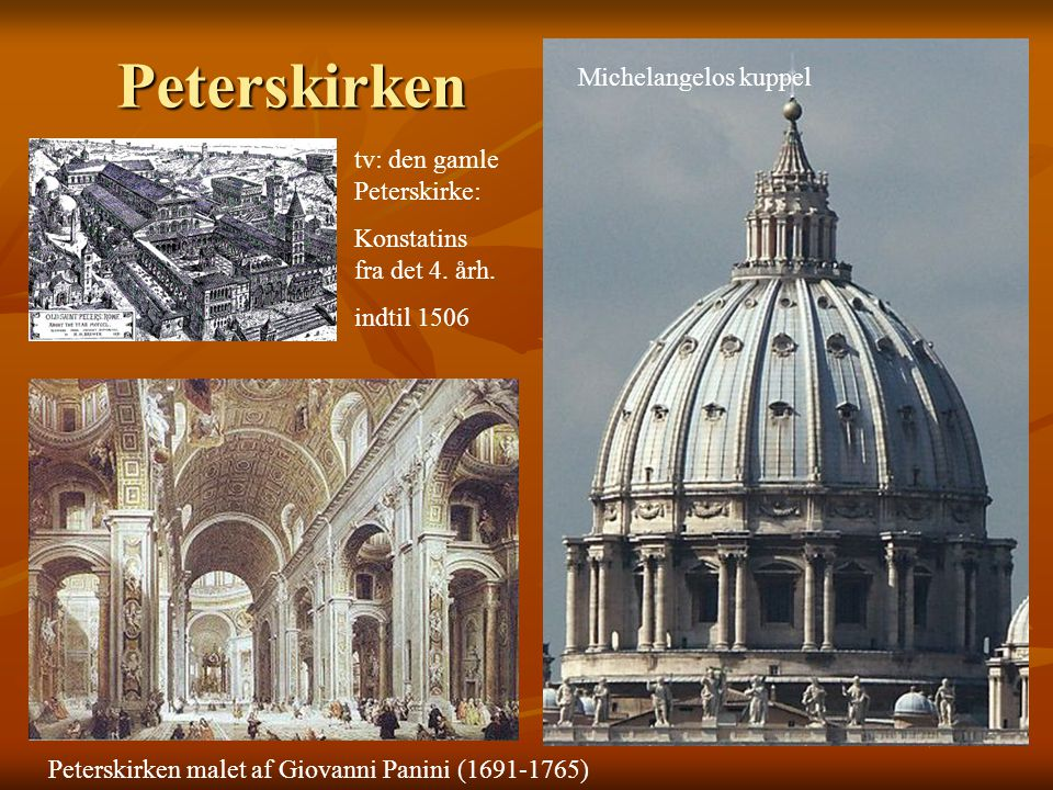 Peterskirken Michelangelos kuppel tv: den gamle Peterskirke: