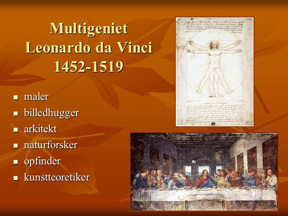 Multigeniet Leonardo da Vinci 1452-1519