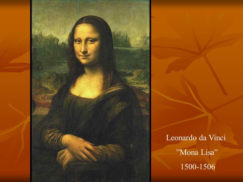 Leonardo da Vinci Mona Lisa 1500-1506