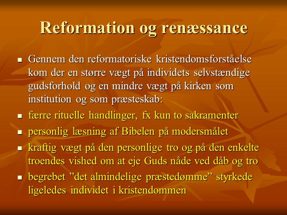Reformation og renæssance