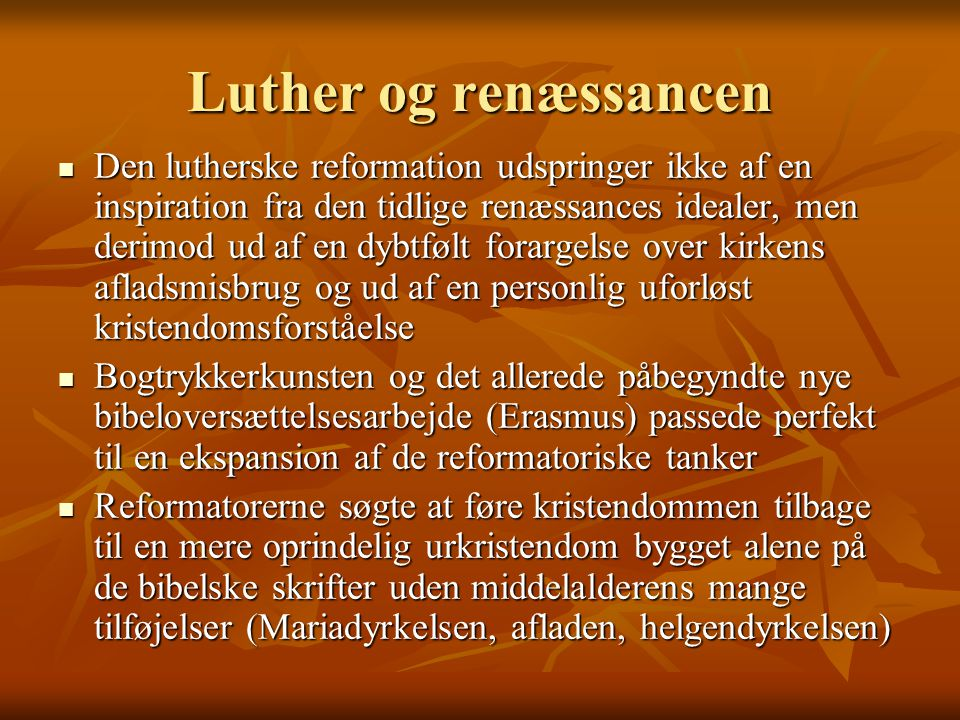 Luther og renæssancen