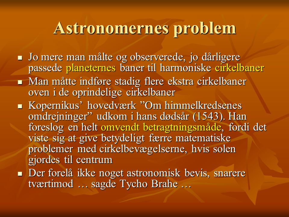 Astronomernes problem
