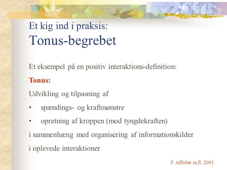 Et kig ind i praksis: Tonus-begrebet
