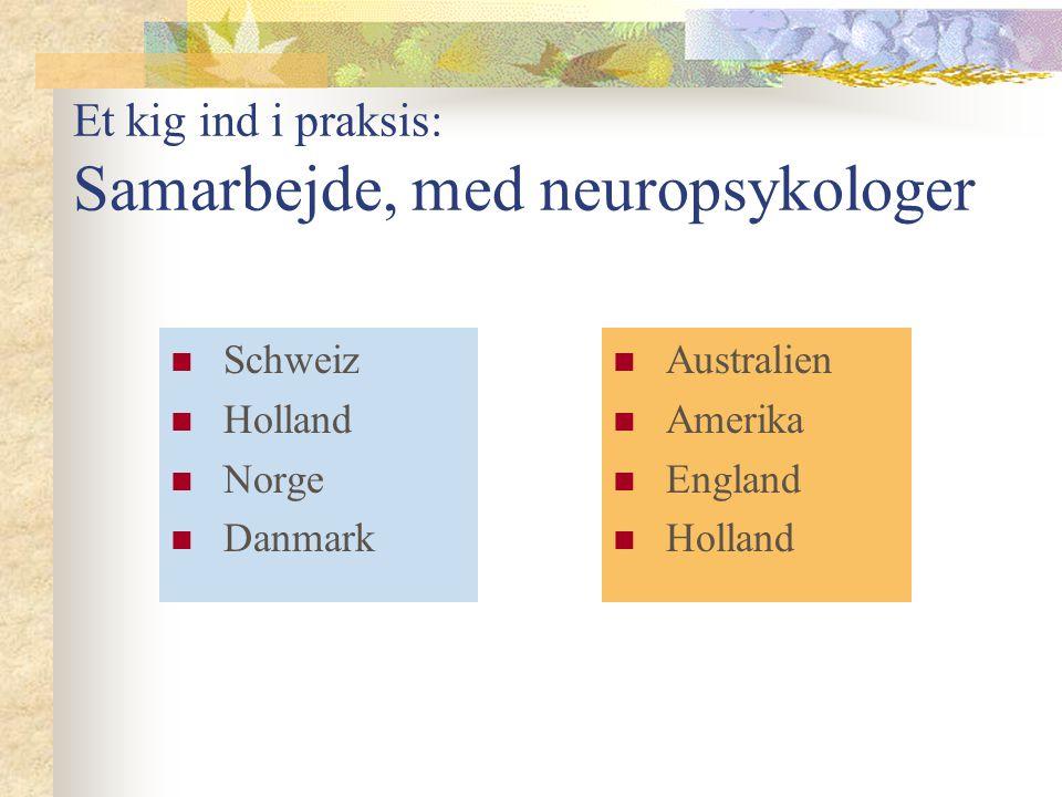 Et kig ind i praksis: Samarbejde, med neuropsykologer