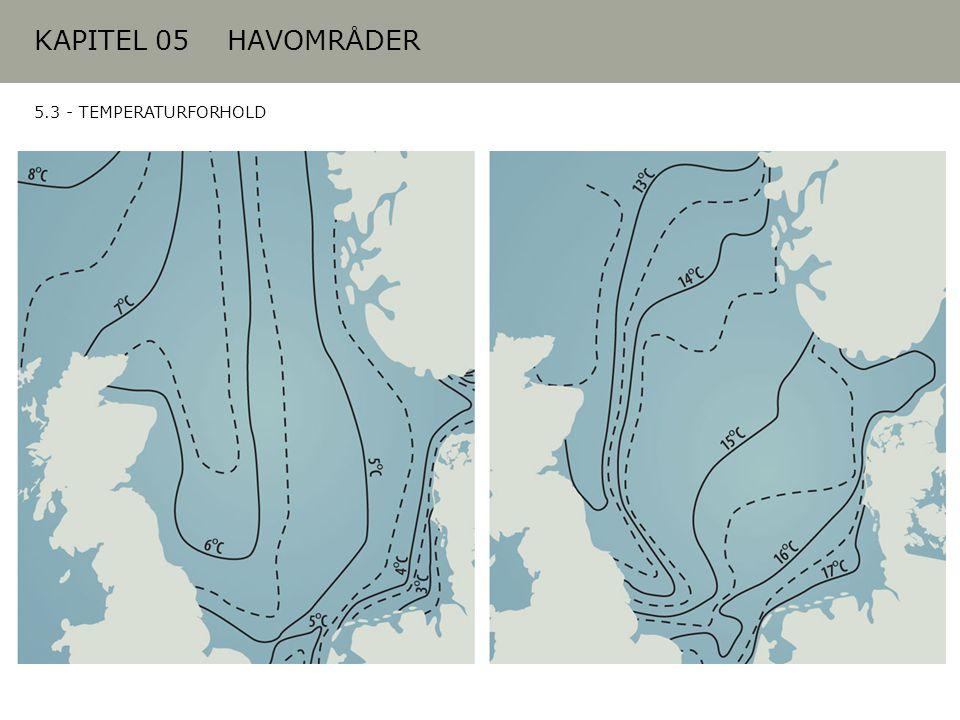 KAPITEL 05 HAVOMRÅDER 5.3 - TEMPERATURFORHOLD