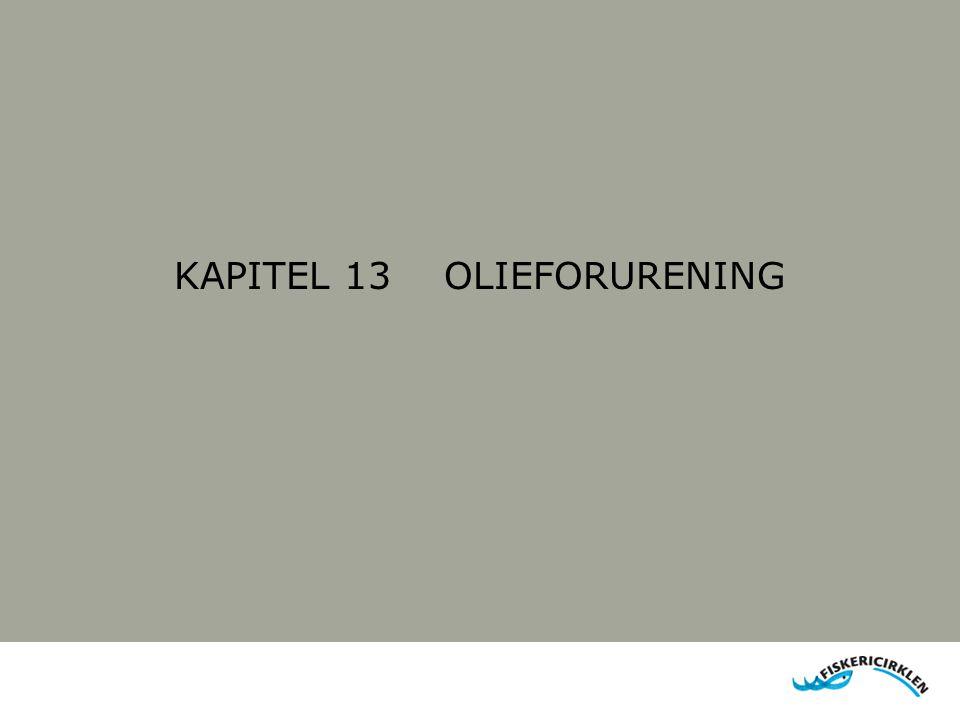 KAPITEL 13 OLIEFORURENING