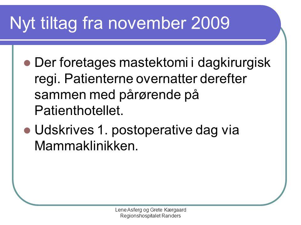 Nyt tiltag fra november 2009