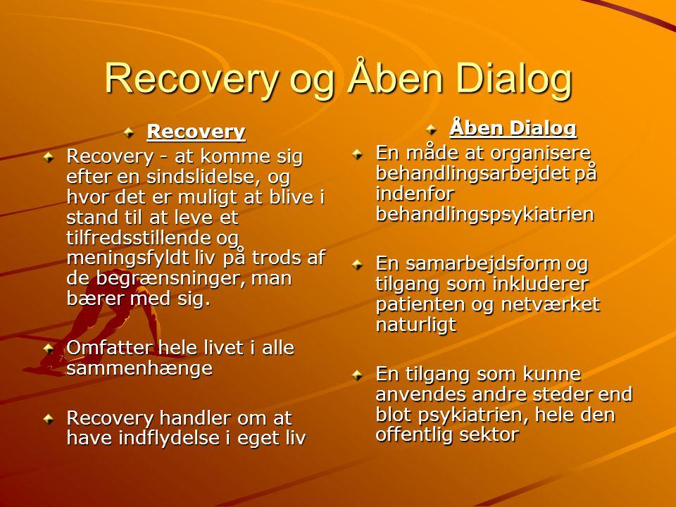 Recovery og Åben Dialog