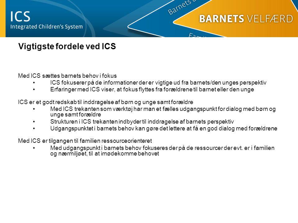 Vigtigste fordele ved ICS