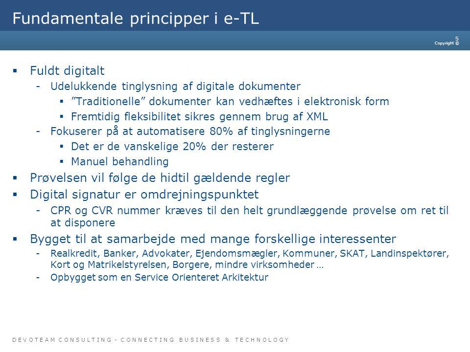 Fundamentale principper i e-TL