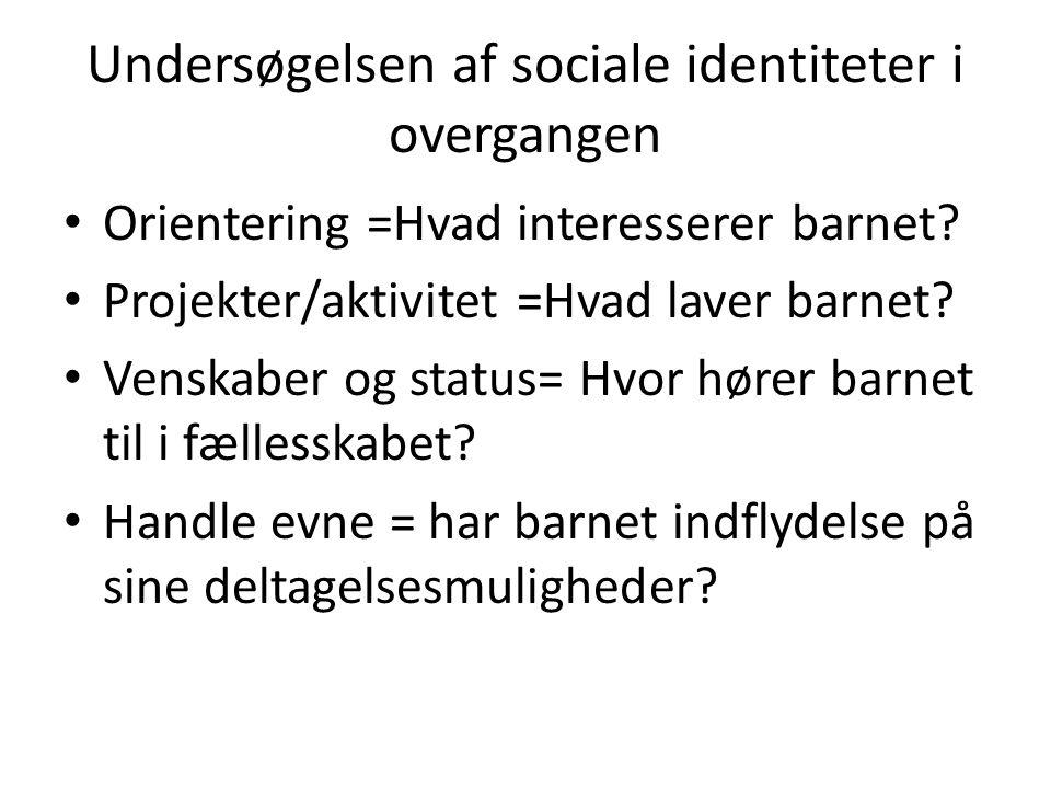 Undersøgelsen af sociale identiteter i overgangen