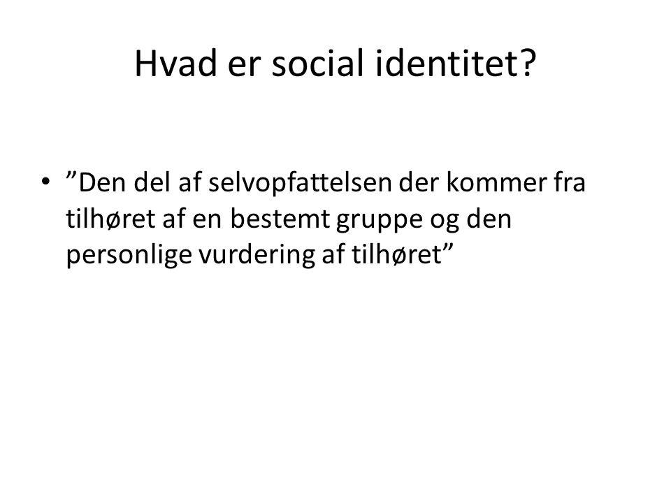 Hvad er social identitet