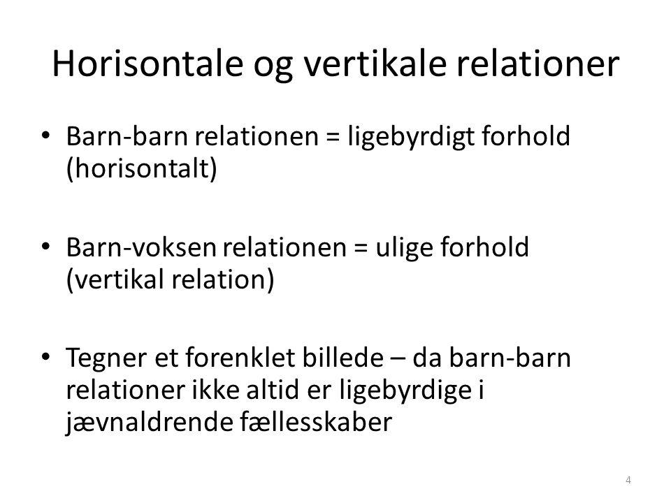 Horisontale og vertikale relationer