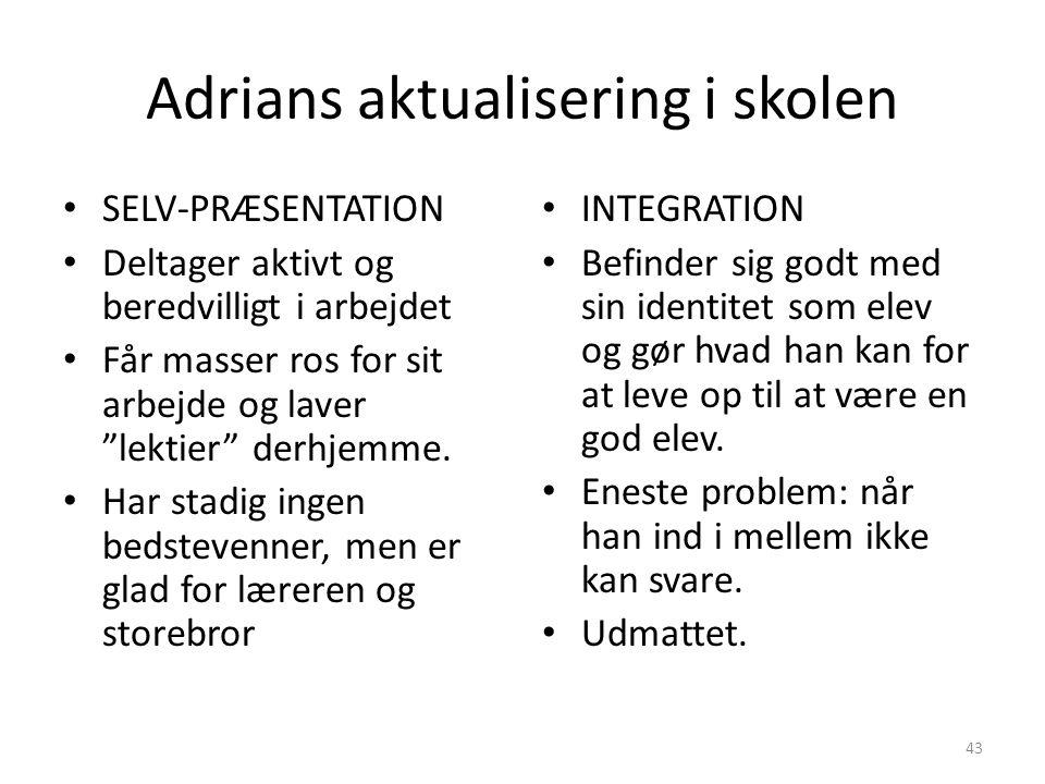 Adrians aktualisering i skolen