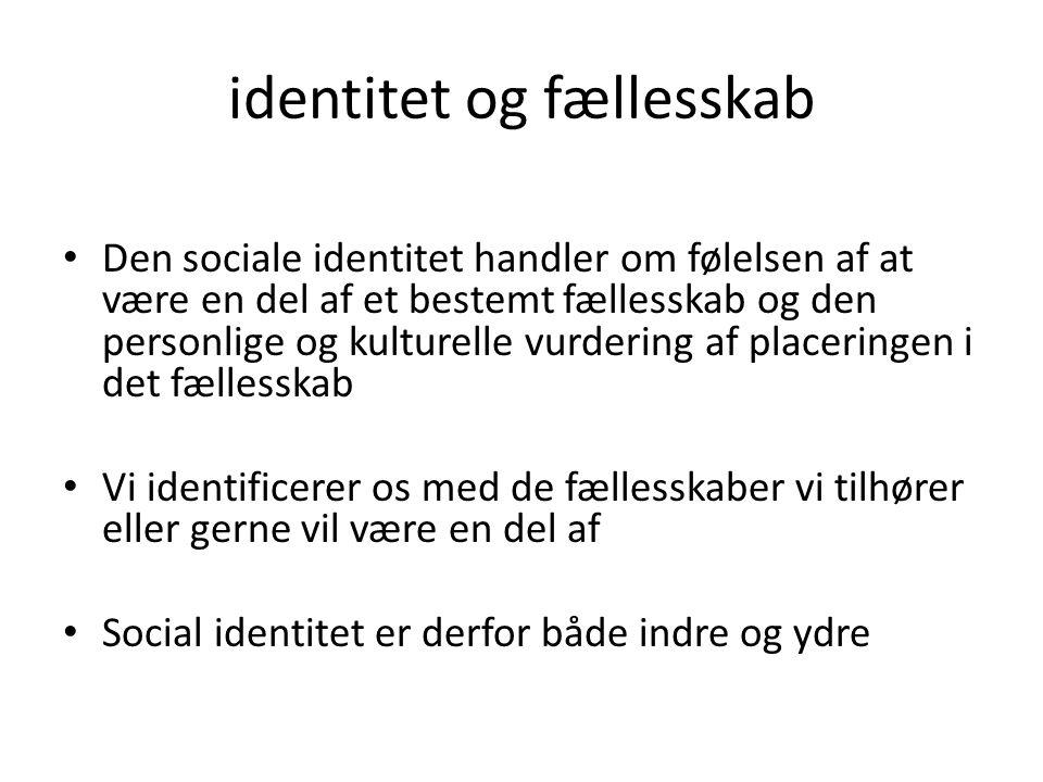 identitet og fællesskab